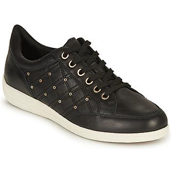 Schuhe Damen Sneaker Low Geox D MYRIA H Schwarz