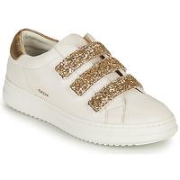 Schuhe Damen Sneaker Low Geox D PONTOISE C Weiss / Gold