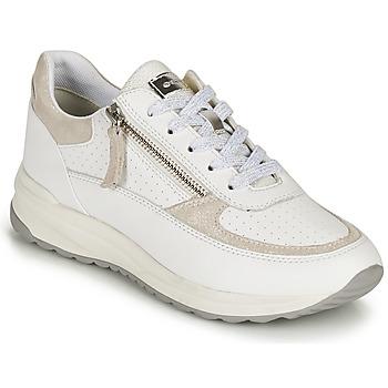 Schuhe Damen Sneaker Low Geox D AIRELL A Weiss / Beige