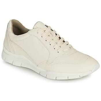 Schuhe Damen Sneaker Low Geox D SUKIE A Weiss
