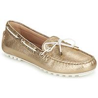 Schuhe Damen Slipper Geox D LEELYAN C Gold / Weiss