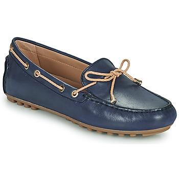 Schuhe Damen Slipper Geox D LEELYAN C Blau / Beige
