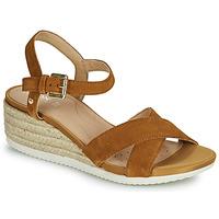 Schuhe Damen Sandalen / Sandaletten Geox D ISCHIA CORDA C Camel