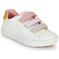 Schuhe Mädchen Sneaker Low Geox SILENEX GIRL Weiss / Rose / Beige