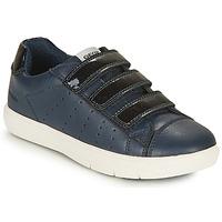 Schuhe Mädchen Sneaker Low Geox J SILENEX GIRL B Marine