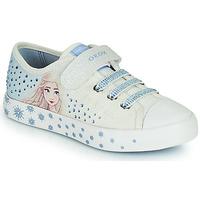 Schuhe Mädchen Sneaker Low Geox JR CIAK GIRL Weiss / Blau