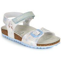 Schuhe Mädchen Sandalen / Sandaletten Geox ADRIEL GIRL Weiss / Blau