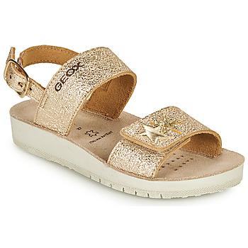 Schuhe Mädchen Sandalen / Sandaletten Geox SANDAL COSTAREI GI Gold