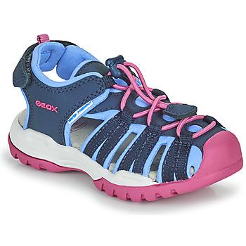 Schuhe Mädchen Sportliche Sandalen Geox BOREALIS GIRL Blau / Rose