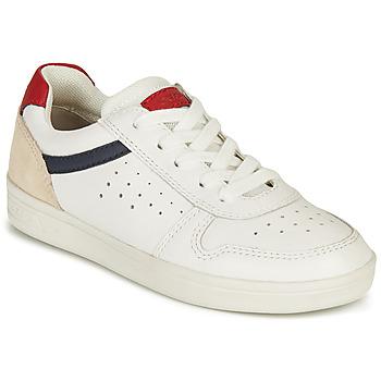 Schuhe Jungen Sneaker Low Geox J DJROCK BOY A Weiss / Marine / Rot