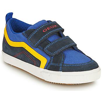 Schuhe Jungen Sneaker Low Geox J ALONISSO BOY A Marine / Gelb