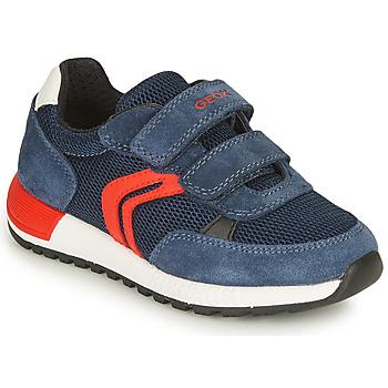 Schuhe Jungen Sneaker Low Geox ALBEN BOY Marine / Rot