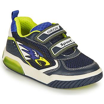 Schuhe Jungen Sneaker Low Geox J INEK BOY B Marine / Gelb