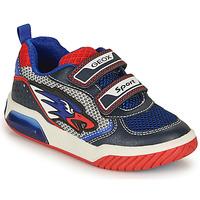 Schuhe Jungen Sneaker Low Geox J INEK BOY B Blau / Rot