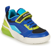 Schuhe Jungen Sneaker Low Geox GRAYJAY BOY Blau / Grün