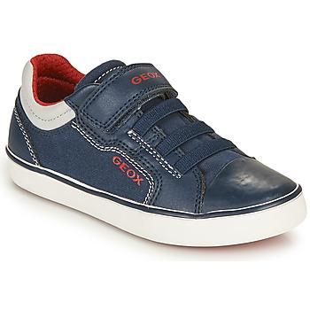 Schuhe Jungen Sneaker Low Geox GISLI BOY Marine / Rot