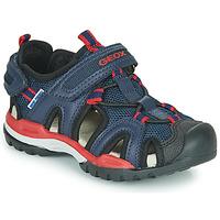 Schuhe Jungen Sportliche Sandalen Geox J BOREALIS BOY A Marine / Rot