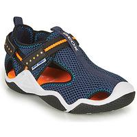 Schuhe Jungen Sportliche Sandalen Geox JR WADER A Marine / Orange