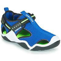 Schuhe Jungen Sportliche Sandalen Geox JR WADER Blau / Grün