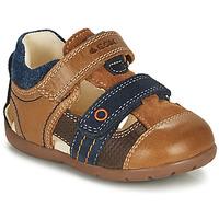 Schuhe Jungen Sandalen / Sandaletten Geox KAYTAN Braun / Marine