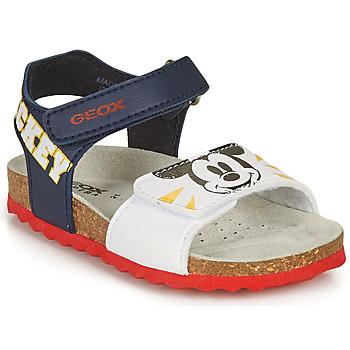 Schuhe Jungen Sandalen / Sandaletten Geox SANDAL CHALKI BOY Marine / Weiss