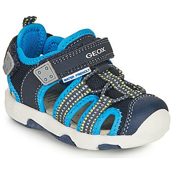Schuhe Jungen Sportliche Sandalen Geox B SANDAL MULTY BOY B Blau