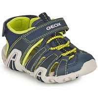 Schuhe Jungen Sportliche Sandalen Geox B SANDAL KRAZE A Marine / Grün