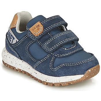 Schuhe Jungen Sneaker Low Geox B ALBEN BOY B Blau / Braun