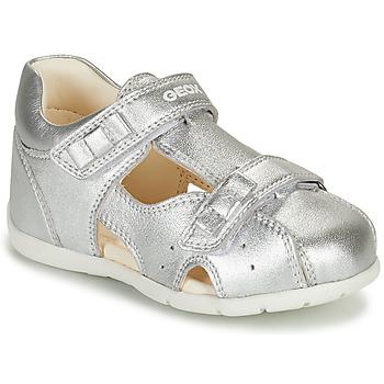 Schuhe Mädchen Sandalen / Sandaletten Geox KAYTAN Silbern