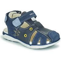 Schuhe Jungen Sandalen / Sandaletten Geox SANDAL DELHI BOY Marine