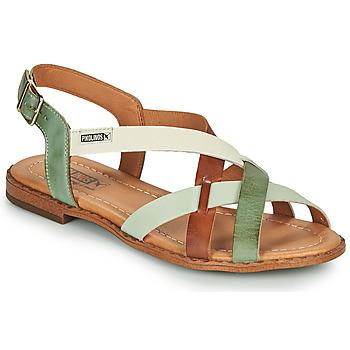 Schuhe Damen Sandalen / Sandaletten Pikolinos ALGAR W0X Braun / Grün
