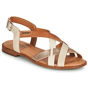 Schuhe Damen Sandalen / Sandaletten Pikolinos ALGAR W0X Weiss / Rose / Gold