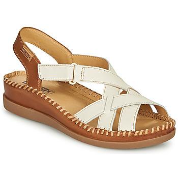 Schuhe Damen Sandalen / Sandaletten Pikolinos CADAQUES W8K Weiss / Braun