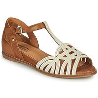 Schuhe Damen Sandalen / Sandaletten Pikolinos TALAVERA W3D Weiss / Braun