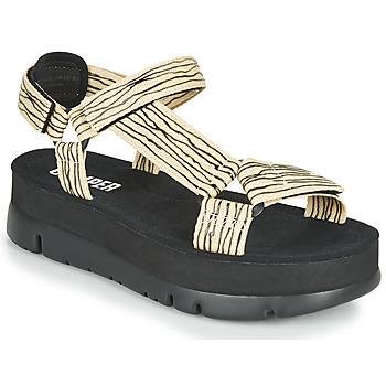 Schuhe Damen Sandalen / Sandaletten Camper ORUGA UP Schwarz / Beige