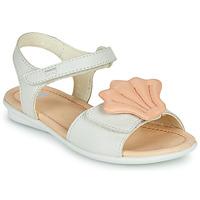 Schuhe Mädchen Sandalen / Sandaletten Camper TWINS Rose / Weiss