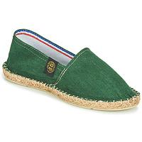 Schuhe Leinen-Pantoletten mit gefloch Art of Soule LINEN Grün