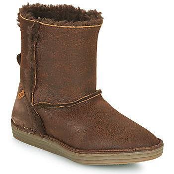Schuhe Damen Boots El Naturalista LUX Braun