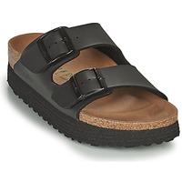 Schuhe Damen Pantoffel Papillio ARIZONA GROOVED Schwarz