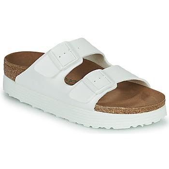 Schuhe Damen Pantoffel Papillio ARIZONA GROOVED Weiss