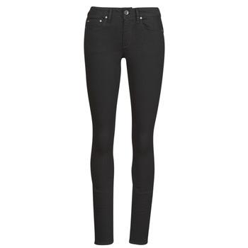 Kleidung Damen Röhrenjeans G-Star Raw Midge Zip Mid Skinny Wmn Schwarz