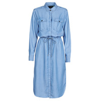 Kleidung Damen Maxikleider G-Star Raw Rovic maxi shirt dress ls Blau