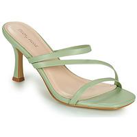 Schuhe Damen Pantoffel Moony Mood OBIUTI Grün / Mandel