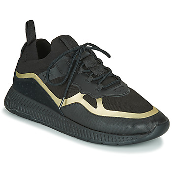 Schuhe Herren Sneaker Low BOSS TITANIUM RUNN KNTH Schwarz / Gold