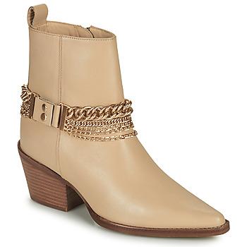 Schuhe Damen Klassische Stiefel Bronx JUKESON Beige