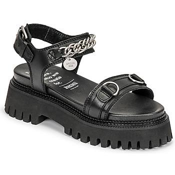 Schuhe Damen Sandalen / Sandaletten Bronx GROOVY SANDAL Schwarz