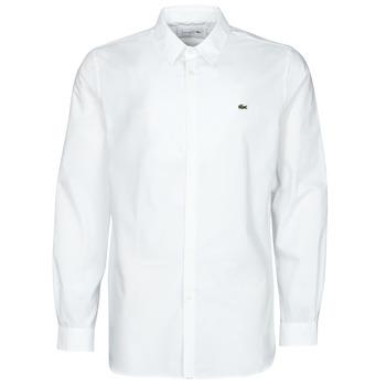 Kleidung Herren Langärmelige Hemden Lacoste PITTA Weiss