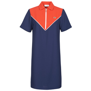 Kleidung Damen Kurze Kleider Lacoste FRITTI Rot / Blau