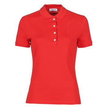Kleidung Damen Polohemden Lacoste POLO SLIM FIT Rot