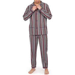 Kleidung Herren Pyjamas/ Nachthemden Admas For Men Homewear-Pyjamahose Granat-Streifen grau Admas Hellgrau